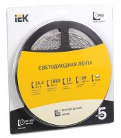 Лента LED 5м  блистер  LSR-5050WW60-14,4-IP65-12V IEK